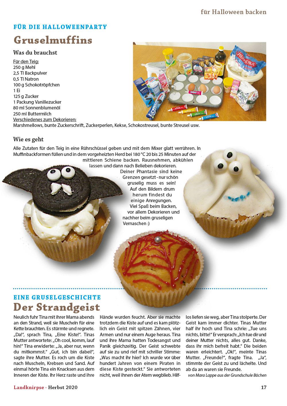 Gruselmuffins für die Halloweenparty backen
