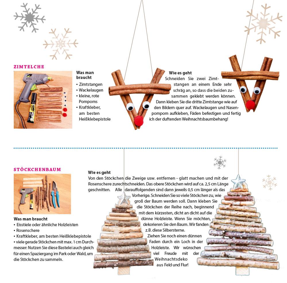 Zimtelche Stöckchenbaum Weihnachten